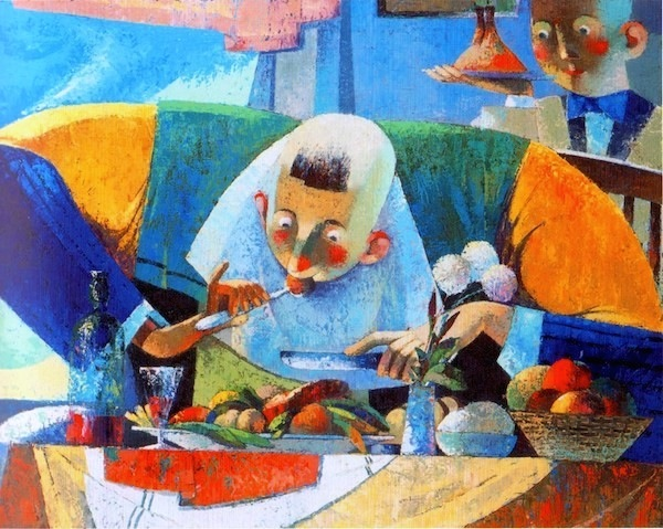 41.Tasty Food | Вкусная еда, oil on canvas, 75,5x60cm,2001,Nugzar Kahiani